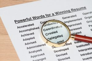 powerful verbs to use in resume