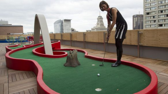 google roof mini golf offices