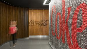 coca cola offices corridor